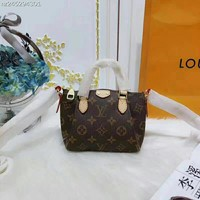 Louis Vuitton nano speedy mini Women Fashion Leather Satchel Shoulder Bag Handbag Crossbody