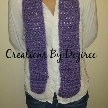 Purple Double Crochet Scarf!