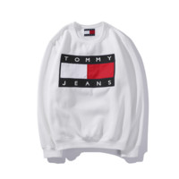 Tommy Hilfiger Long Sleeve Embroidery Round Neck Sweater
