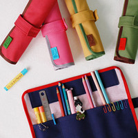 Korean Fancy Design Stationary Multipurpose Pouch Roll Pen/Pencil Case
