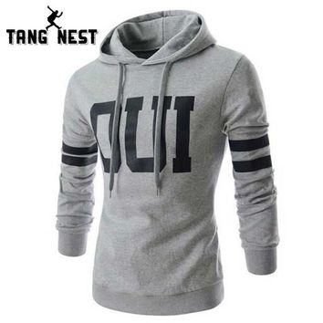 TANGNEST 2017 Stylish Hooded New Arrival Men's Hoodies Autumn Letter Soft Fashion Male Casual Young Sweatshirt MWW856