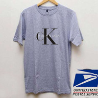 Calvin Klein Grey T shirt Unisex adult mens t shirt and women t shrt