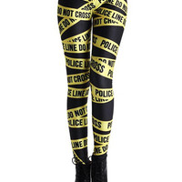 Black and Yellow Leggings with Letter
