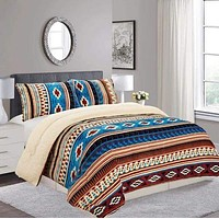 Aztec  Borrego Fleece Comforter 3pc Set