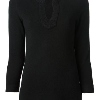 Tory Burch rounded v-neck sweater
