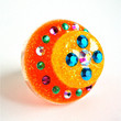Glitter resin ring - neon orange and yellow sparkly resin ring by Sparkle City Jewelry