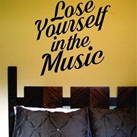 Dabbledown Lose Yourself in the Music Decal Vinyl Sticker Wall Decals Stickers Quote Sticker Wall Decal Nursery Art Sticker Music Wall Vinyl Sticker Decals Decor Art Bedroom Design Mural