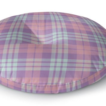 EASTER KIDS PLAID Floor Pillow By Northern Whimsy