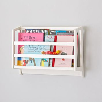 On the Wall Book Bin (White)