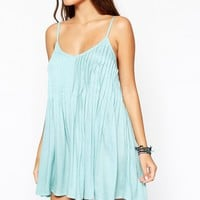 ASOS Pintuck Pleat Strappy Beach Dress