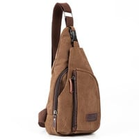 Single Strap Canvas Backpack
