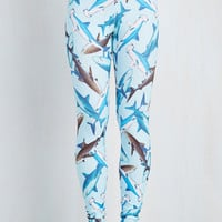 Quirky Skinny Fresh Take Leggings in Sharks
