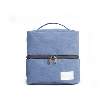 'Travel Pouch 130' Raw Waxed Blue