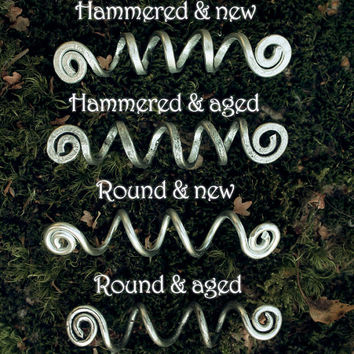 2 Custom Viking hair beads • Spiral hair coils • Beard jewelry • Dwarven beard coils • Bead hair accessory • Dreadlock hair accessories