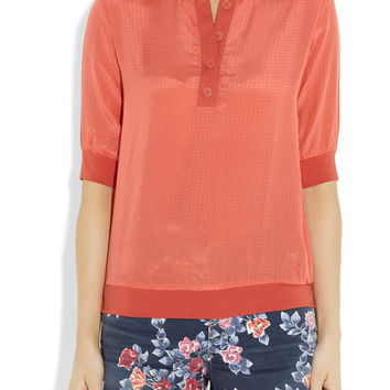 Tucker Silk Crepe De Chine Top