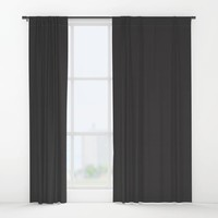 Midnight Black Window Curtains by spaceandlines