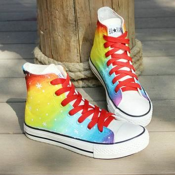 Galaxy Converse shoes Custom Converse Galaxy Converse Sneakers Hand-Painted On Convers