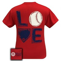 SALE Girlie Girl Originals Preppy Love Baseball Sports T-Shirt
