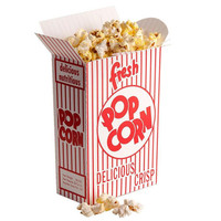 24 Medium Popcorn Box, Retro Design, Red and White, Resealble Top, Party Favor Box, Movie Theme Party Favor Box