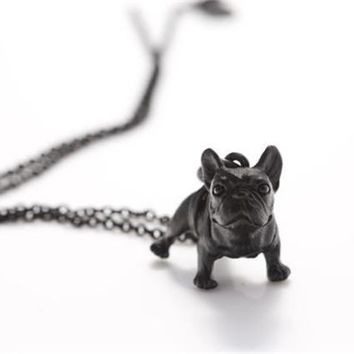 Vintage 3D French Bulldog necklaces & pendants Anime Dog Maxi NecKlace For Women Men Jewelry best friend Gift 2017