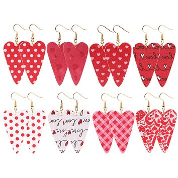 Valentine's Day Leather Love Earrings