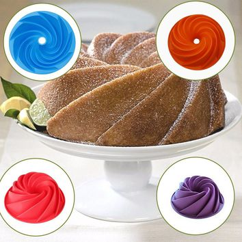 Big Swirl Shape Silicone Butter Cake Mould Kitchen Baking form Tools For Cake Bakery baking dish Bakeware