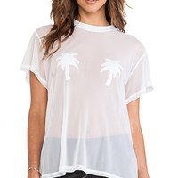 MINIMALE ANIMALE Golden Triangle Tee in White