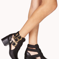 Buckled Cutout Booties