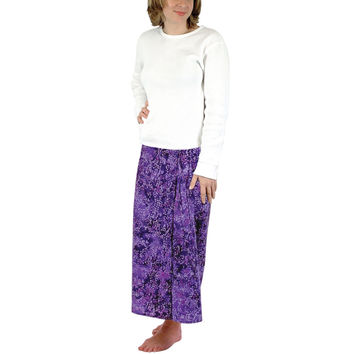 Bali Batik - Purple Floral - Skirt