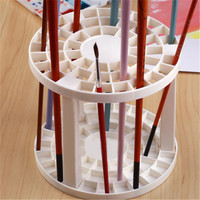 Art Supplies Using Paint Brush Penholder White Round Plastic Drawing Fashion Product Set 1 Piece
