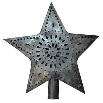 Punched Tin Star Tree Topper