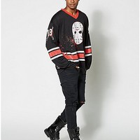 Jason Friday the 13th Long Sleeve Hockey T Shirt - Spencer's