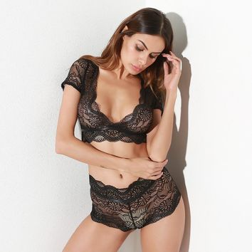 Cute Sexy Hot Deal On Sale Set Autumn Ladies Hip Up Lace Exotic Lingerie [13244563459]