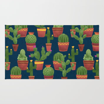 Terra Cotta Cacti Rug by Noonday Design
