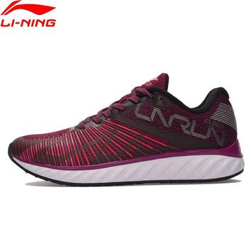 Li-Ning Women LN CLOUD IV 'FLAME' Running Shoes Mono Yarn Breathable Sneakers LiNing Wearable Sports Shoes ARHM068