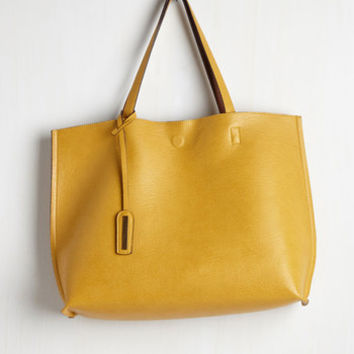 Know a Thing or Two-Tone Bag in Goldenrod