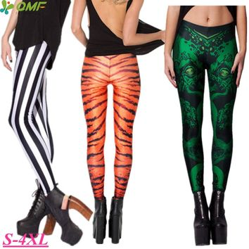 Black White Stripe Fitness Gym Clothing For Woman Yellow Police Cordoned Sport Running Leggings Stretchy Slimming Pencil Trouser