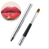 Portable Smooth Travel Retractable Lip Brush Makeup Cosmetic Lipstick Gloss
