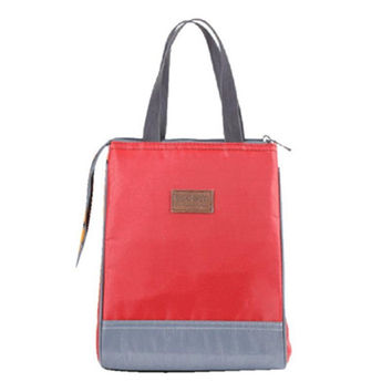 Popular Lunch Bag & Solid Thermal Insulated Lunch Bag Tote Cooler Zipper Bag Bento Lunch Box bolsa termica Smile CF