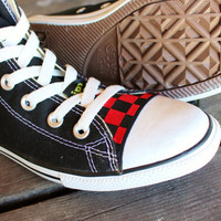 Chuck Taylor all-stars CIPPCAP skin Black Red Checkers