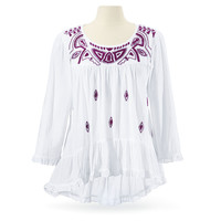 Mayan Embroidered Top - Women's Clothing & Symbolic Jewelry – Sexy, Fantasy, Romantic Fashions