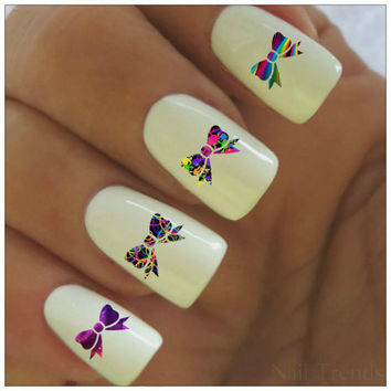 Bow Nail Decal 20  Vinyl Adhesive Decals Nail Tattoos  Nail Art