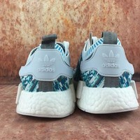 Adidas Boost Nmd Supermem Nmd R1 Pk Camouflage Green Women Men Fashion Trending Running Sports Shoes
