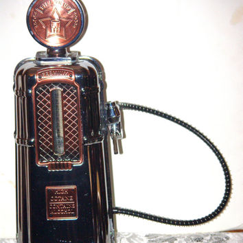 Vintage Godinger Silver Art Co Fill ER Up Gas Pump Liquor Dispenser