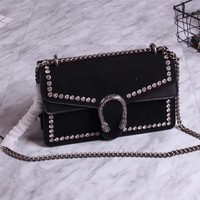 GUCCI WOMEN NEW STYLE LEATHER DIONUSUS CHAIN SHOULDER BAG