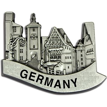 German Village Scene Metal Hat Pins for German Hat