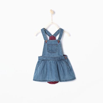 BASIC STRAPPY PINAFORE DRESS WITH BRIEFS
