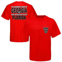Georgia Bulldogs My Favorite Team T-Shirt - Red