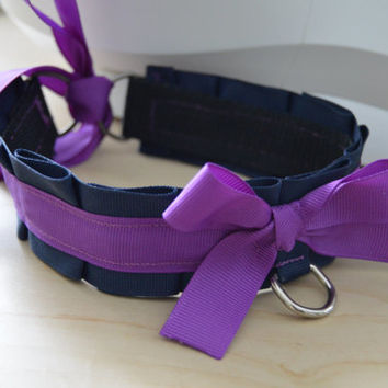 """14"""" Navy Blue and Purple Pet Play Collar (ON SALE)"""