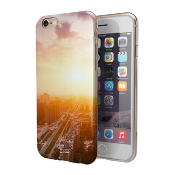 Cityscape at Sunset 2-Piece Hybrid INK-Fuzed Case for the iPhone 6/6s or 6/6s Plus
